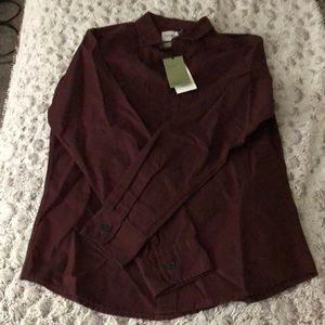 New Men's Burgundy button-down from Target